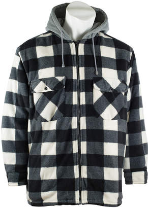 Trailcrest Men's Fleece Jackets black - Black Plaid Thurmond Sherpa-Lined Jacket - Men