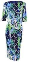 Vince Camuto Women's Short Sleeve Bodycon Dress (12, Print)