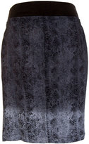 XCVI Olga Dip-Dye Zip-Front Pencil Skirt, Black