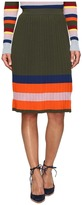 House of Holland Knitted Merino Pleated Skirt