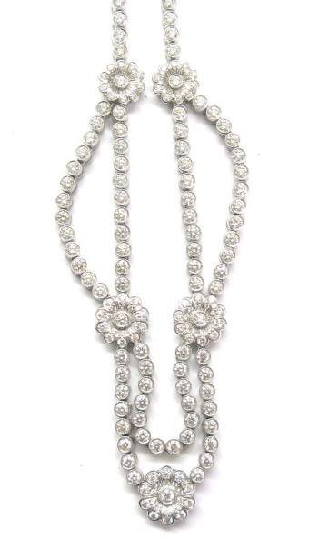 Tiffany & Co. Rose Collection Platinum Diamond Necklace