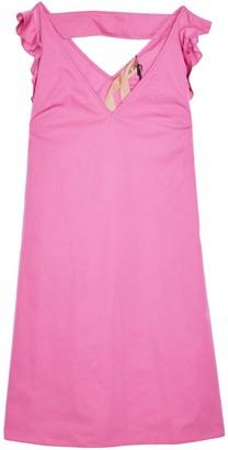 No.21 Double V Dress in Fuchsia