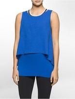 Calvin Klein Performance Two-Layer Tank Top