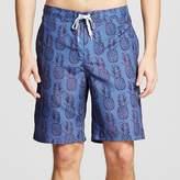 Merona Men's Pineapple Print Swim Trunks Navy