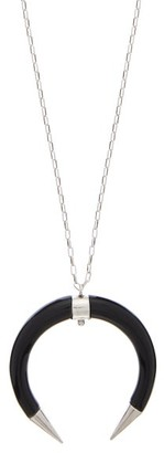 Isabel Marant Buffalo-horn Drop Necklace - Womens - Black