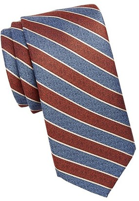 Saks Fifth Avenue Textured Striped Silk Tie