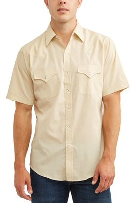 Plains Western Wear Plains Men's Short Sleeve Solid Western, up to 3XLT