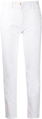 Balmain Cropped Slim Fit Jeans