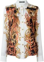 Balmain baroque print shirt - women - Silk - 38