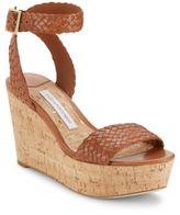 Diane von Furstenberg Montclair Leather Ankle Strap Wedges