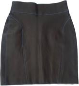 Jitrois Blue Leather Skirt for Women