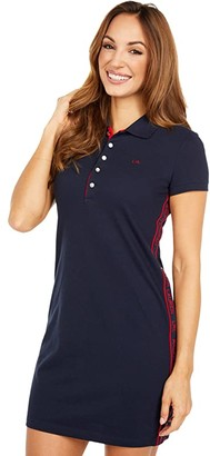 Lauren Ralph Lauren Petite Jaddox Polo Shift Dress (Lauren Navy) Women's Clothing
