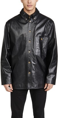 Lemaire Leather Shirt Jacket