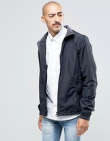 Barbour Nylon Harrington Jacket In Navy