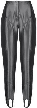 Thierry Mugler Metallic Stirrup Trousers