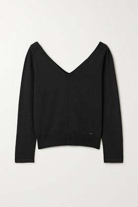 Akris Stretch-mulberry Silk Top - Black