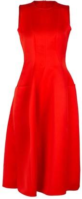 Maison Rabih Kayrouz Red Sleeveless Crewneck Dress