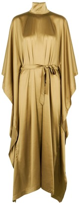 Taller Marmo Odeon olive stretch-silk cape dress
