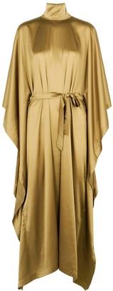 Taller Marmo Odeon Olive Stretch-silk Cape Dress