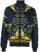 Versace baroque star bomber jacket