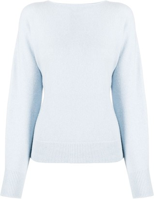 Vince long-sleeve fitted jumper
