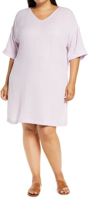 Eileen Fisher Organic Cotton V-Neck Dress