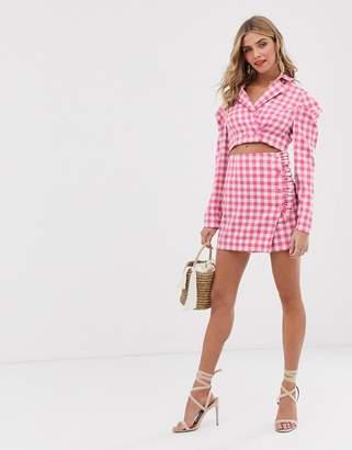 Finders Keepers Gigi check co-ord mini skirt