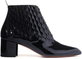 Alaia Laser-cut Patent-leather Ankle Boots