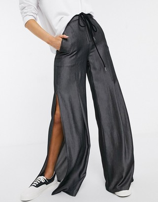 Skylar Rose wide leg trousers in soft chambray with rope tie belt