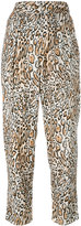 Raquel Allegra leopard print cropped trousers - women - Silk - 1