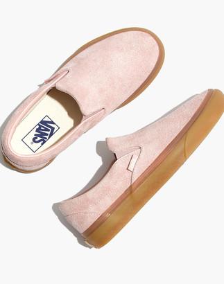 Madewell Vans Unisex Classic Slip-On Sneakers in Rose Suede