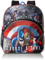 Disney Boys' Captain America 12 Toddler Backpack