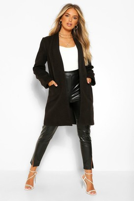 boohoo Lightweight Wool Look Coat