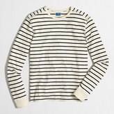J.Crew Factory Long-sleeve deck-striped textured cotton T-shirt