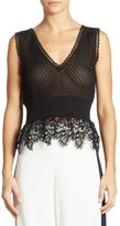 Alberta Ferretti Sleeveless Lace Top
