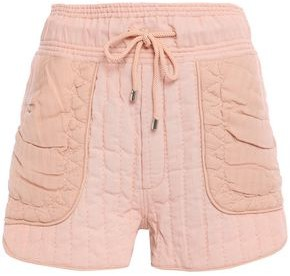 Sea Woven-paneled Quilted Gauze Shorts