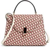 Valextra Iside Monogram Leather Top Handle Bag