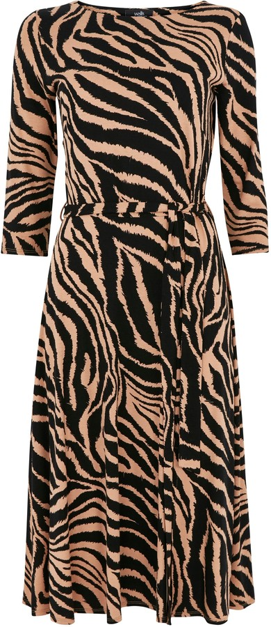 Wallis Stone Animal Print Midi Dress