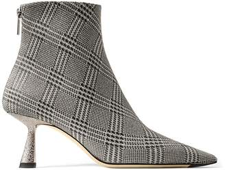 Jimmy Choo KIX 65 Silver Prince of Stars Glitter Pointed Toe Booties
