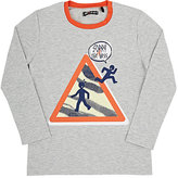 Sorry 4 the Mess Graphic Cotton Jersey T-Shirt-GREY