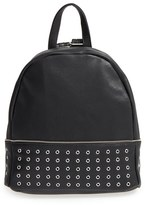 Sole Society 'Prescott' Grommet Faux Leather Backpack - Black
