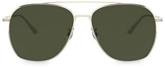 Oliver Peoples Ellerston 58MM Aviator Sunglasses