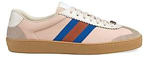 Gucci Men's Leather & Suede Web Sneakers