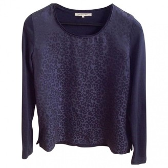 Gerard Darel Navy Silk Top for Women