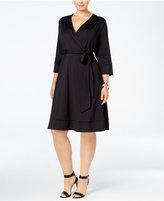 INC International Concepts Plus Size Faux-Wrap Dress, Only at Macy's