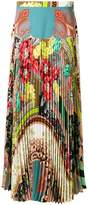 Etro floral and paisley pleated skirt