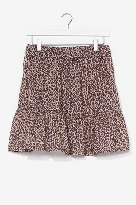 Nasty Gal Womens A Real Natural Leopard Mini Skirt - Black - 6, Black
