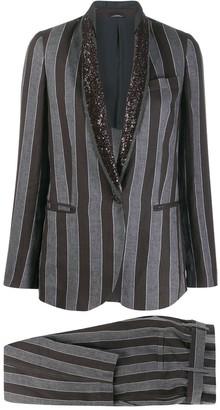 Brunello Cucinelli striped trouser suit