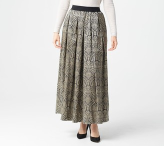 Joan Rivers Classics Collection Joan Rivers Petite Tapestry Maxi Skirt