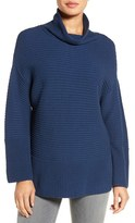 Vince Camuto Women's Ribbed Funnel Neck Sweater